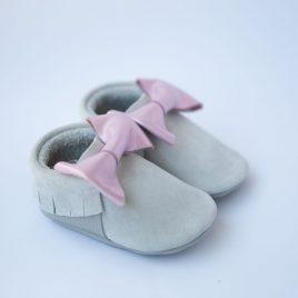 Suede gray(velúr)/ Metal pink
